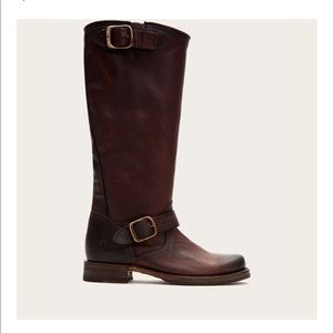 Frye Mid-Length Veronica Slouch Boots (Redwood)